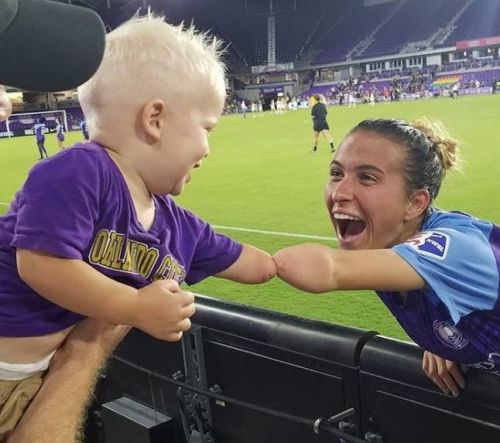 One-armed soccer player inspires one-armed 2-year-old, and vice versa