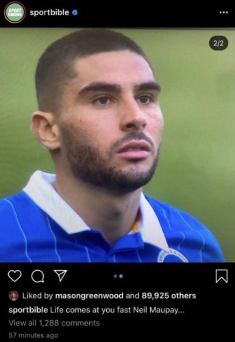 Photo - Man United star likes brutal dig at Brighton's Neal Maupay after win