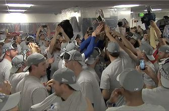 Watch the Los Angeles Dodgers celebrate their second straight National League Pennant