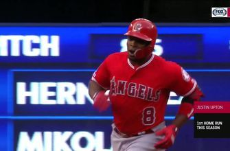 HIGHLIGHTS: HUGE day at the plate gets the WIN for the Halos in J-Up's first game back
