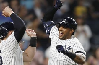 Yanks homer in record-tying 27th straight game, beat Toronto