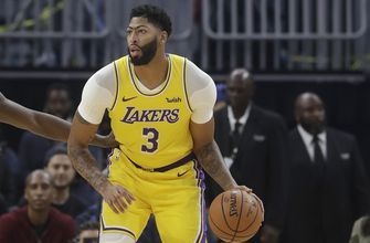 Davis hurt, Nets finish sweep of Lakers in China, 91-77