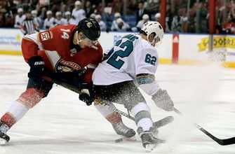 Sergei Bobrovsky turns away 30 shots as Panthers muscle past Sharks for 5-1 win