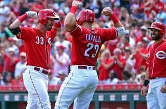 Reds rally late to sweep Cubs and extend winning streak to 7