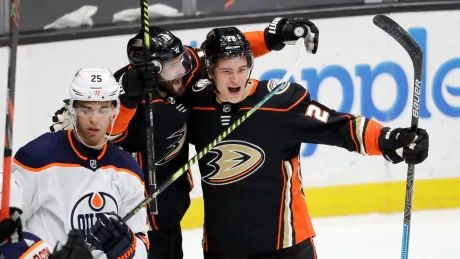 Athanasiou, Ennis both score in Oilers debut, but newest Duck Milano nets OT winner