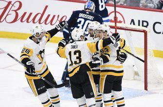 Aston-Reese has 2 goals and assist, Penguins beat Jets 7-2