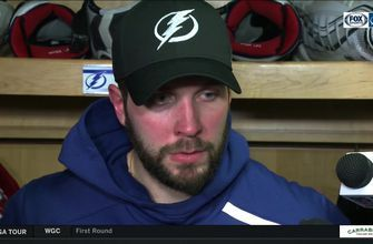 Nikita Kucherov recaps tonight's win and talks about his 100th point with tonight's goal
