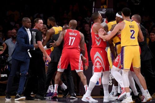 Lakers' Ingram, Rondo and Rockets' Paul suspended after punch-up