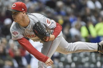 Gray earns first win, Reds pitchers strike out 14 in 3-0 shutout of Brewers