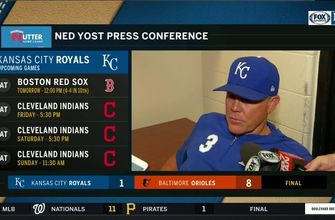 Yost after loss to Orioles: 'We're just not swinging well right now'