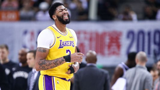 Anthony Davis sprains thumb as Nets top Lakers in China
