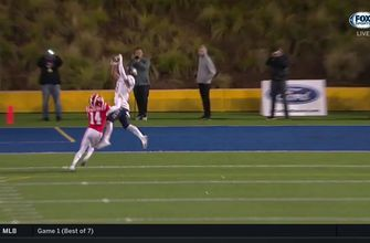 Week 8: Jake Bailey snags a perfect pass from DJ Uiagalelei for another Bosco TD