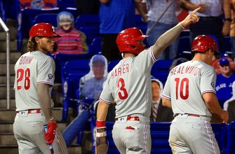 Phillies erupt for five-run seventh inning to beat Blue Jays, 5-1