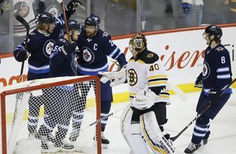 Scheifele has goal, 2 assists as Jets beat Bruins 4-3