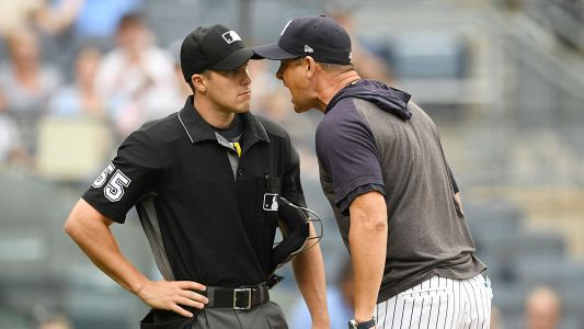 Yankees manager Aaron Boone tells umpire to 'F-ing get better' after being ejected