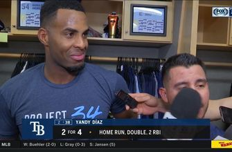 Yandy Diaz discusses his big night at the plate, some of his defense after Rays' 8-1 win