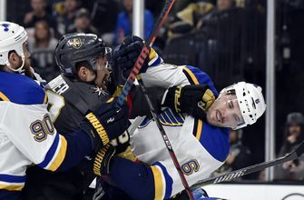 O'Reilly scores twice, Blues beat Golden Knights 4-1