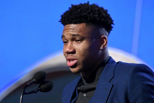 Giannis Antetokounmpo becomes very emotional after winning NBA MVP