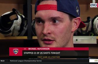 Panther's Michael Hutchinson talks his first start in goal