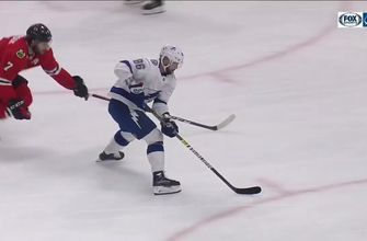 WATCH: Victor Hedman finds Nikita Kucherov for beautiful top-shelf backhand goal