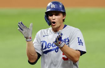 Dodgers get on the board early with two-run first inning in Game 5, lead Rays, 2-0
