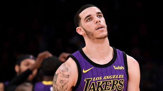 Lonzo Ball reacts to being traded from Lakers to Pelicans