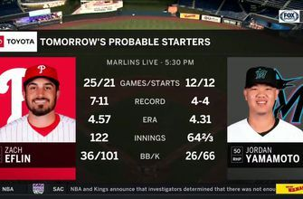 Marlins look to carry momentum into Game 2 against Phillies