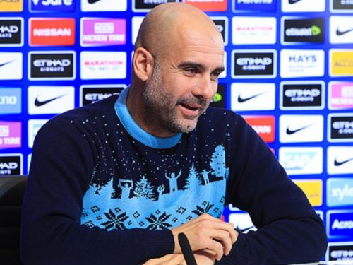 VIRAL: Pep turns up to press conference with Christmas jumper