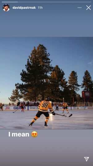 Bruins' David Pastrnak Still In Awe Of Lake Tahoe Game Vs. Flyers
