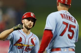 WATCH: DeJong drives in four runs, Bader makes a standout play in center