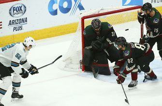 Coyotes rally from 3-goal deficit but lose to Sharks late