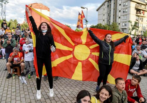 'A joyous moment.' North Macedonia and Finland supporters revel in their nations' European Championship debuts