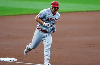Mike Trout shows off dad strength with two more homers, but Angels fall to Mariners