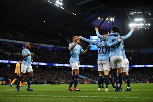 Man City comfortable in win over 10-man Wolves