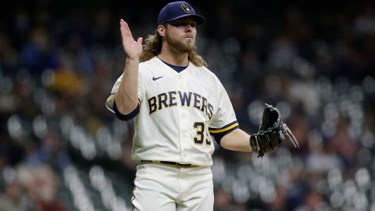 Brewers' Corbin Burnes sets multiple MLB strikeout records before issuing first walk of season