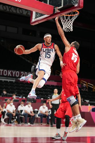 Team USA men's basketball rebounds from opening loss at Olympics with rout of Iran