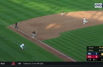 WATCH: Brewers turn triple play against Cardinals