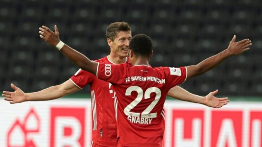 Lewandowski passes 50-goal mark as Bayern win 20th German Cup to complete double