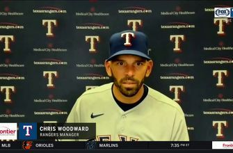Chris Woodward talks Mike Mike Minor, loss to Athletics