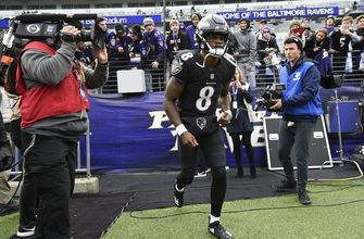 The Latest: Ravens QB Jackson off and running in 1st start
