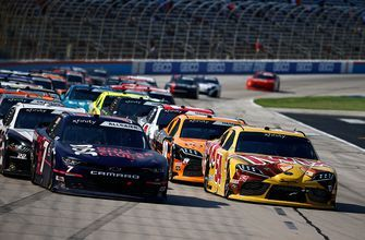 Kyle Busch scores his 99th career Xfinity win in overtime at Texas