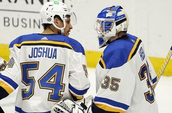 Joshua scores first goal in NHL debut as Blues hang on for 5-4 win over Ducks