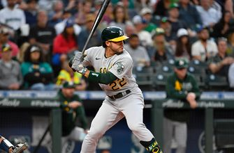 Ramon Laureano's RBI double helped the A's take down the Angels, 4-0
