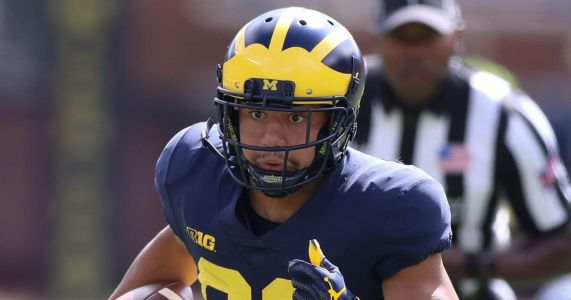 Michigan football's Grant Perry striving to be good example for WRs