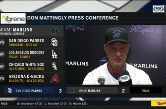 Don Mattingly on Padre's Chris Paddack, tough ending to tonight's game