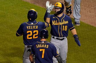 Christian Yelich three-run homer leads the way in Brewers 4-3 win over Cubs