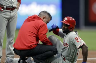 Phillies' McCutchen upbeat about recovery from knee injury