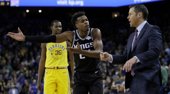 Buddy Hield, Kings coach engage in bizarre beef at end of Warriors game