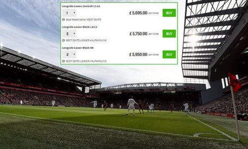 Tickets for Liverpool's final match of the season going for £6,000