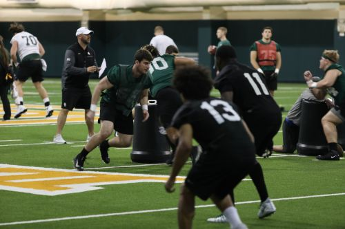 As spring practice begins, Bears hoping to build off bowl win